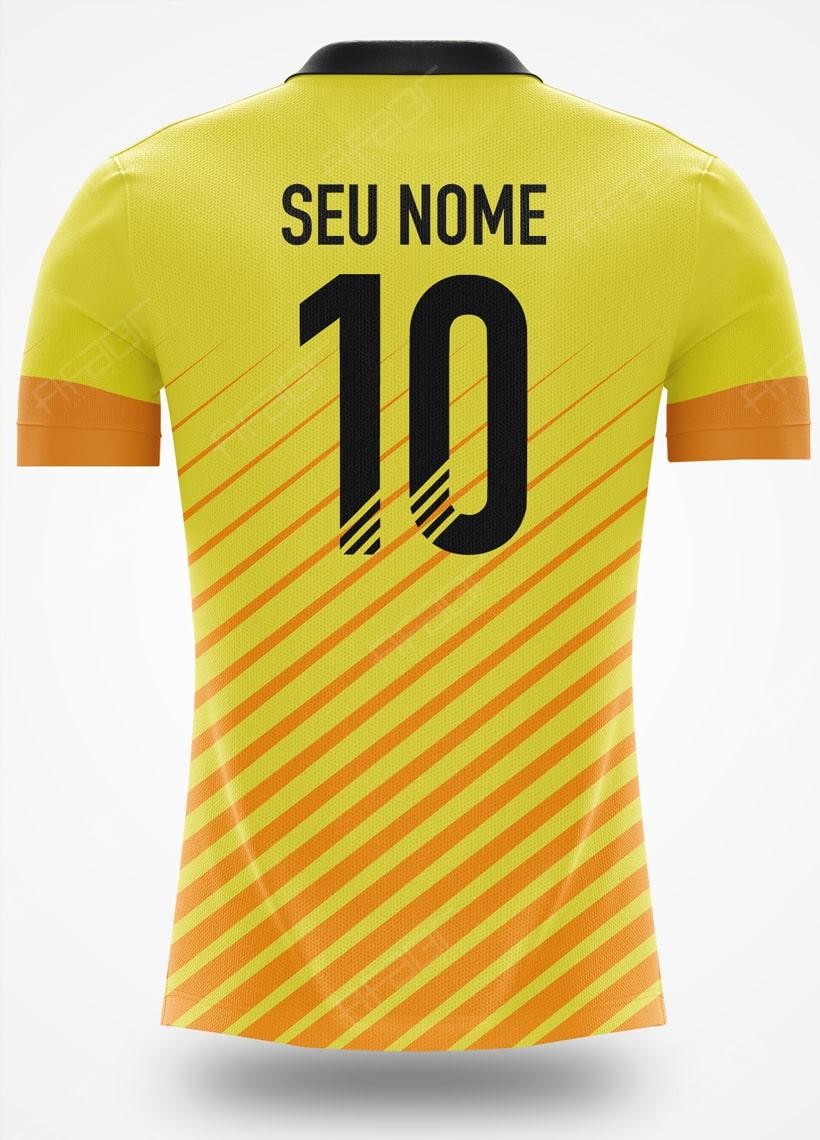 Camisa Fut Champions Elite Edition Amarelo e Laranja