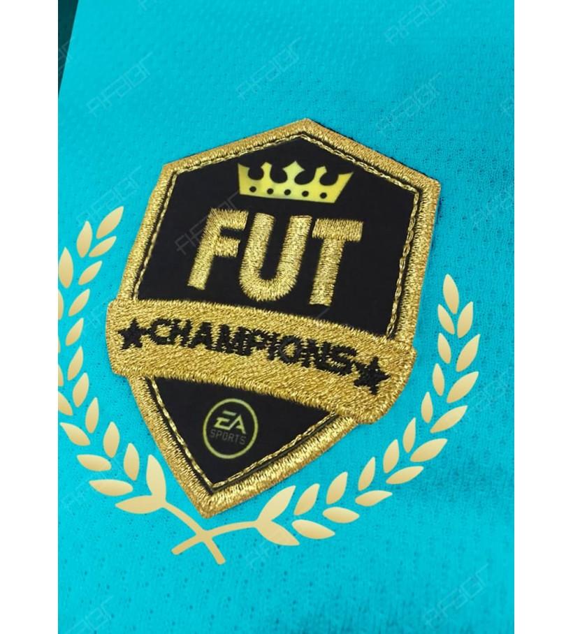 Camisa Fut Champions Top 100 Edition Azul Claro com Detalhe em Preto