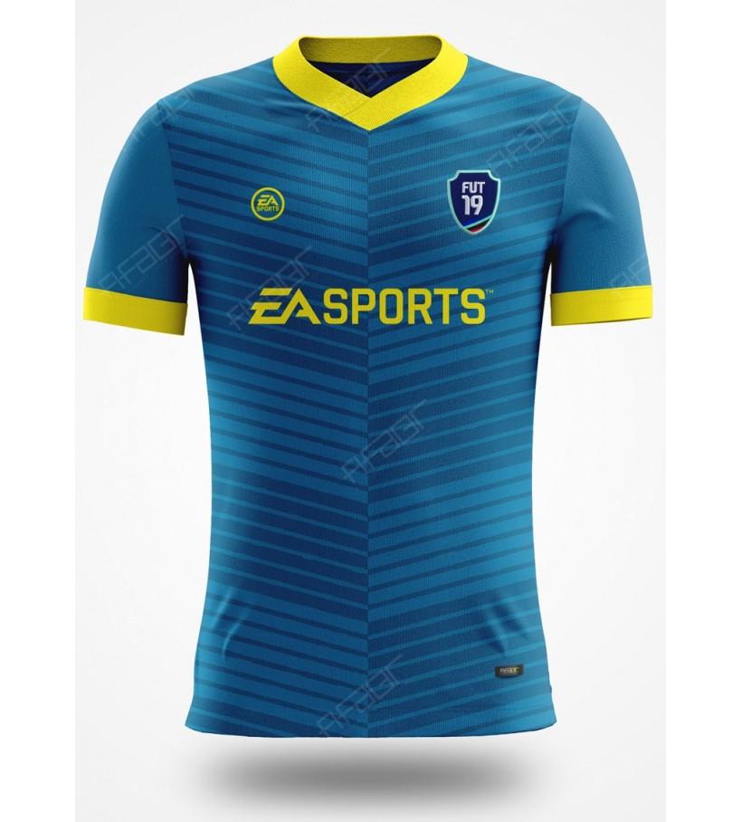 Camisa Ultimate Team TOTW Edition Azul com detalhe em Amarelo