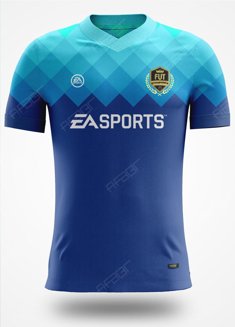 Camisa Fut Champions Elite Edition Azul Degradê