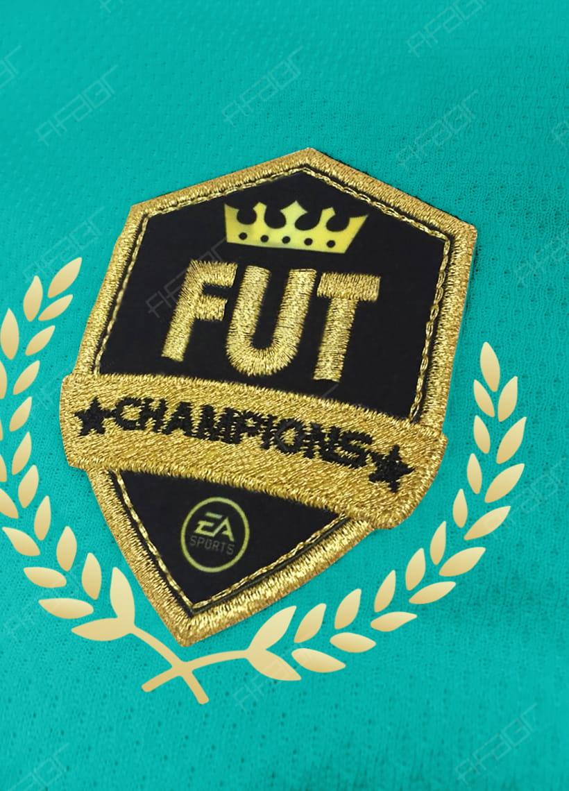 Camisa Fut Champions Gold Edition Tons de Azul e Verde