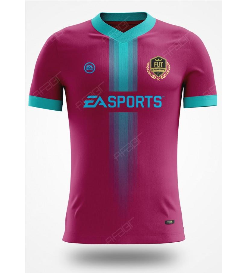 Camisa Fut Champions Top 100 Edition Bordo com Detalhe em Azul claro