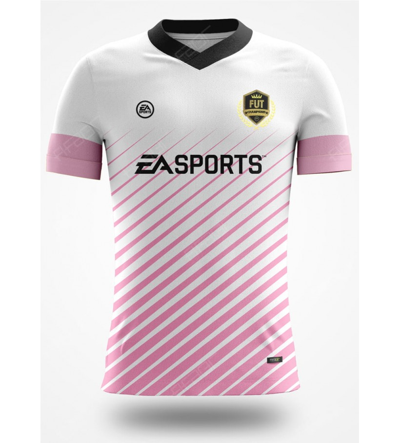 Camisa Fut Champions Elite Edition Rosa e Branco