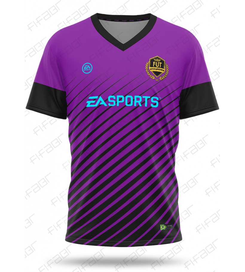 Camisa Fut Champions Elite Edition Roxa e Preta