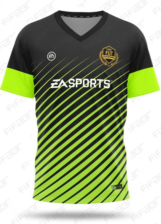 Camisa Fut Champions Elite Edition Preta e Verde Florescente