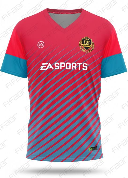 Camisa Fut Champions Elite Edition Vermelha e Azul Claro