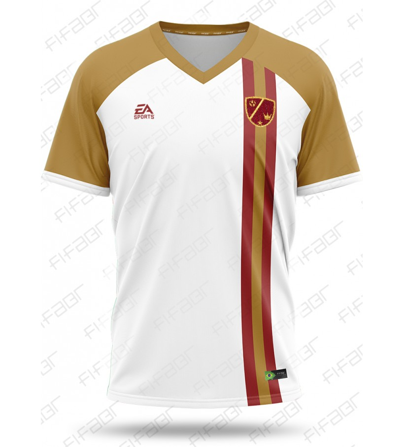 Camisa Ultimate Team Legends Edition Branca e Bege com Detalhe em Bordo