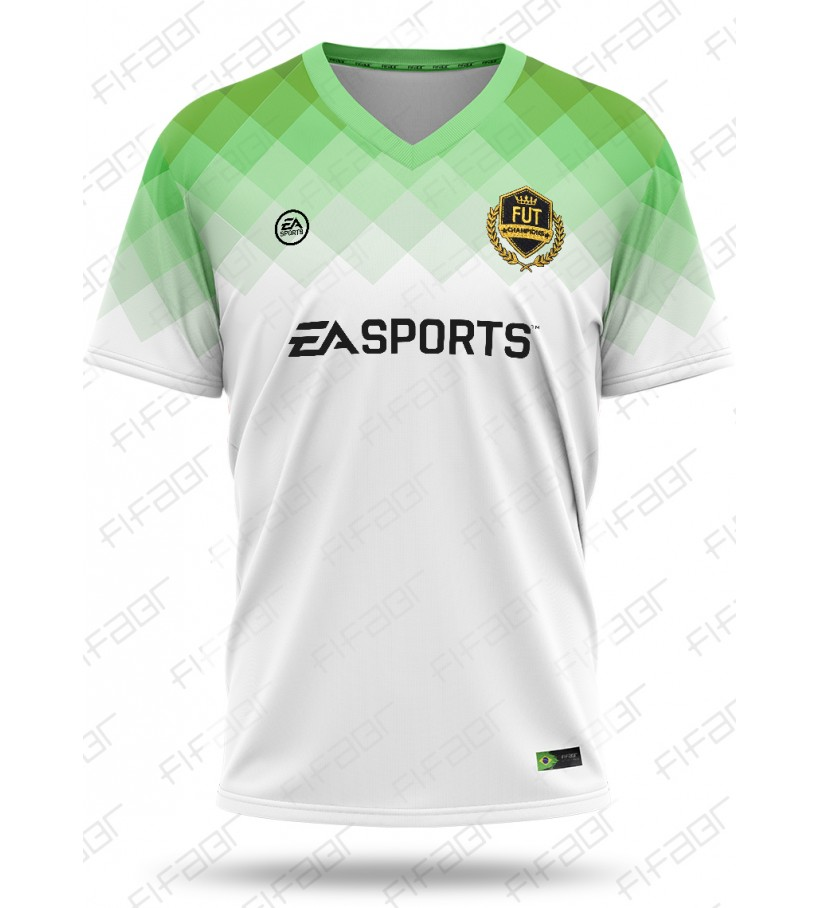 Camisa Fut Champions Elite Edition Verde e Branco Degradê