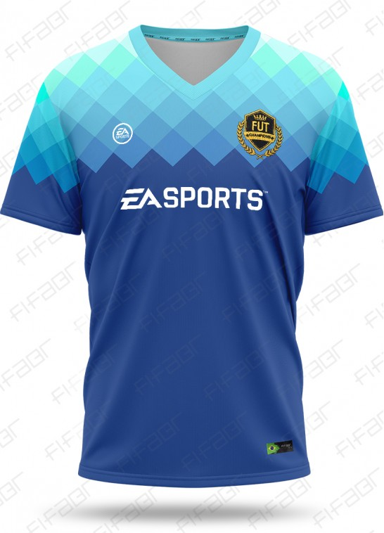 Camisa Fut Champions Elite Edition Azul Degradê