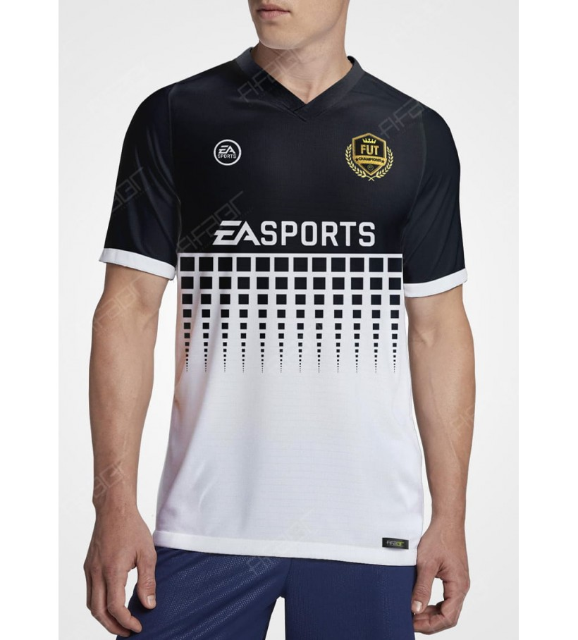 Camisa Fut Champions Gold Edition Preta e Branca