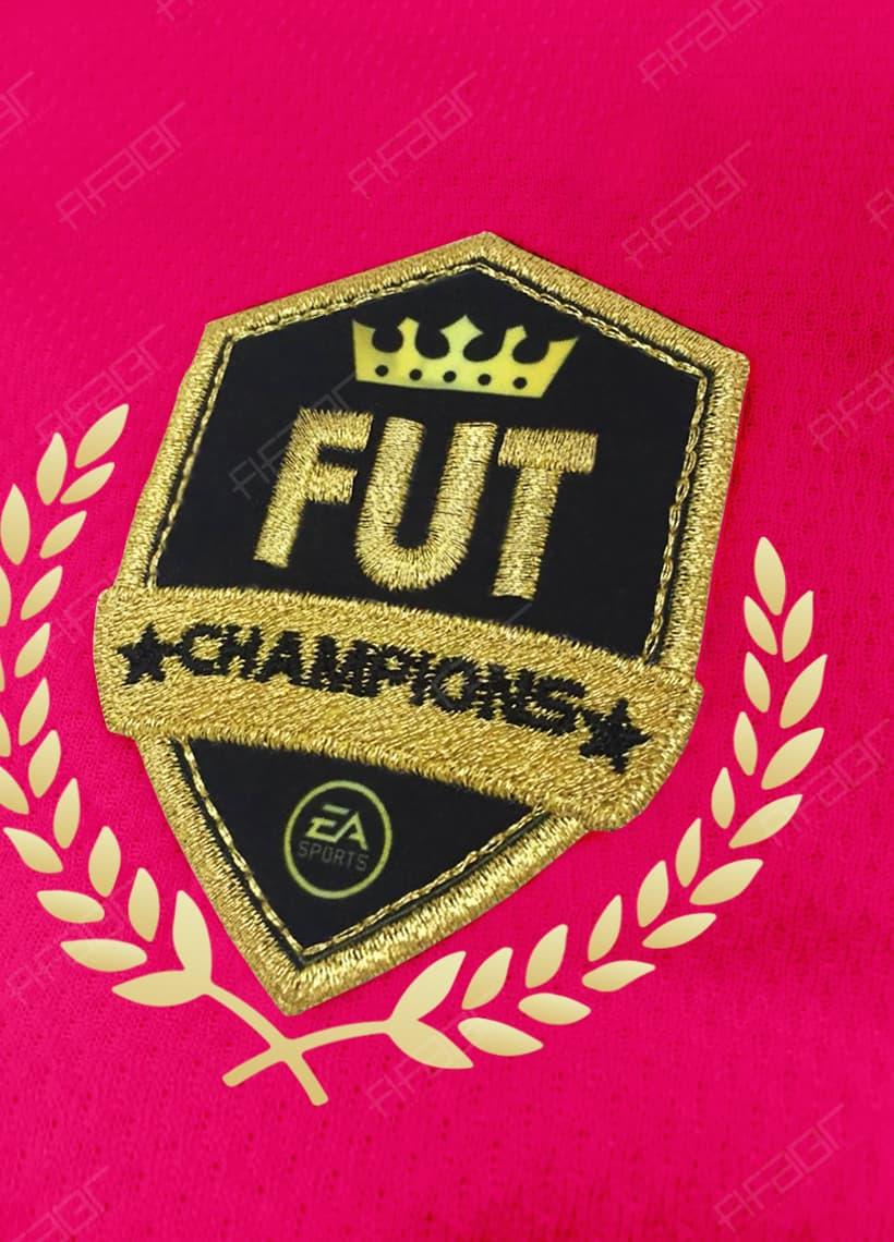 Camisa Fut Champions Gold Edition Rosa e Preta