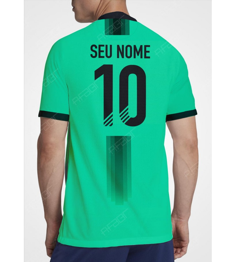Camisa Fut Champions Top 100 Edition Verde com Detalhe em Preto