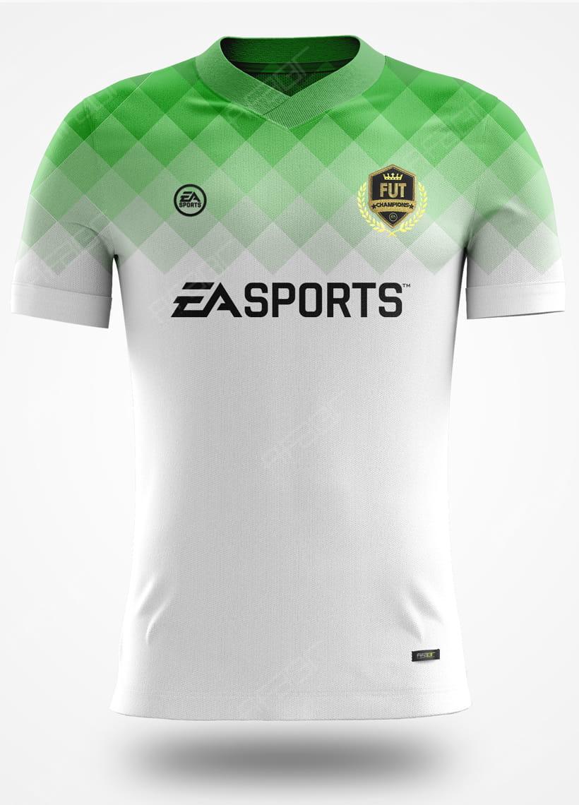 Camisa Fut Champions Elite Edition Verde e Branco Degradê