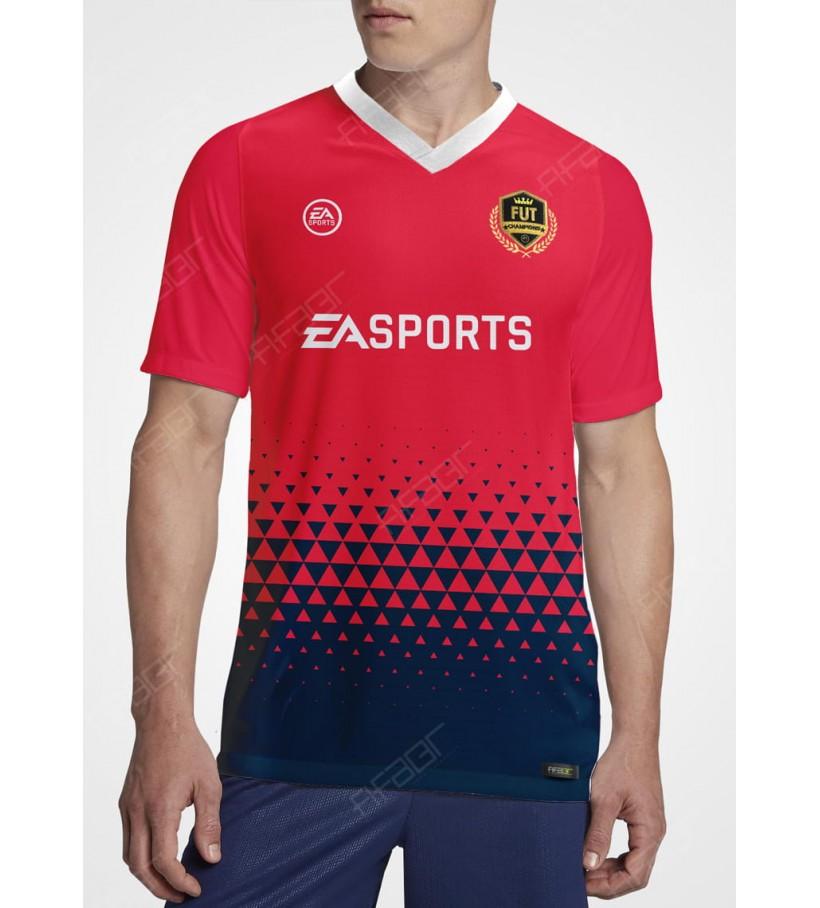 Camisa Fut Champions Gold Edition Vemelha e Azul Marinho