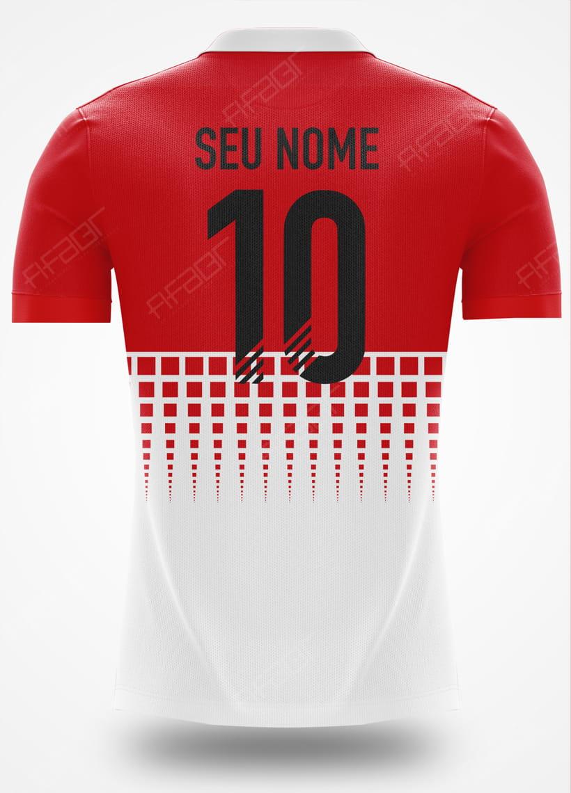 Camisa Fut Champions Gold Edition Vermelha e Branca