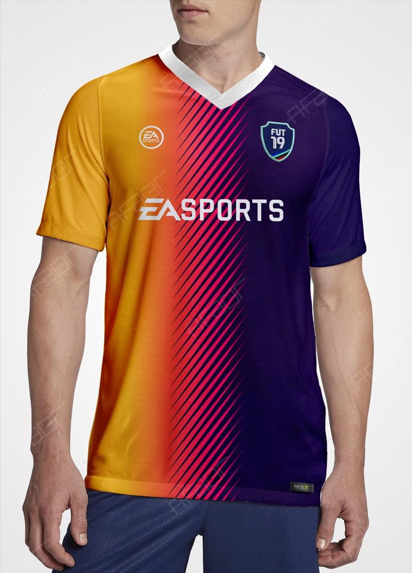 Camisa Ultimate Team TOTW Edition Amarela e Roxo Degradê