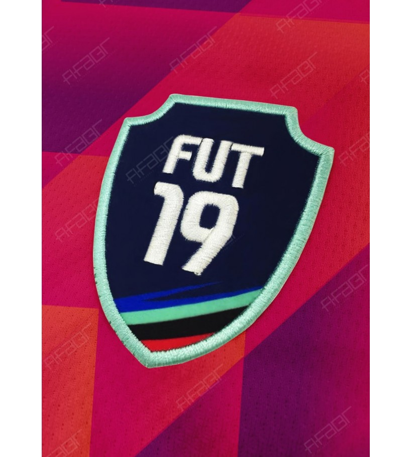 Camisa Ultimate Team Dev Edition Laranja e Rosa com Tons de Azul Escuro
