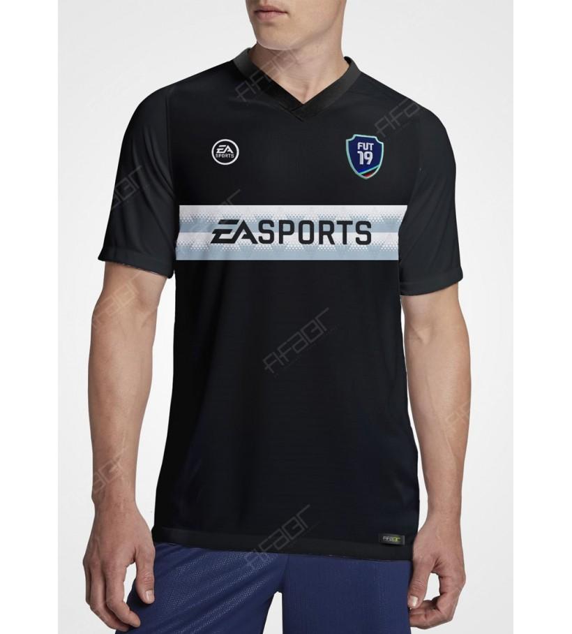 Camisa Fut Champions Silver Edition Preta e Cinza Claro