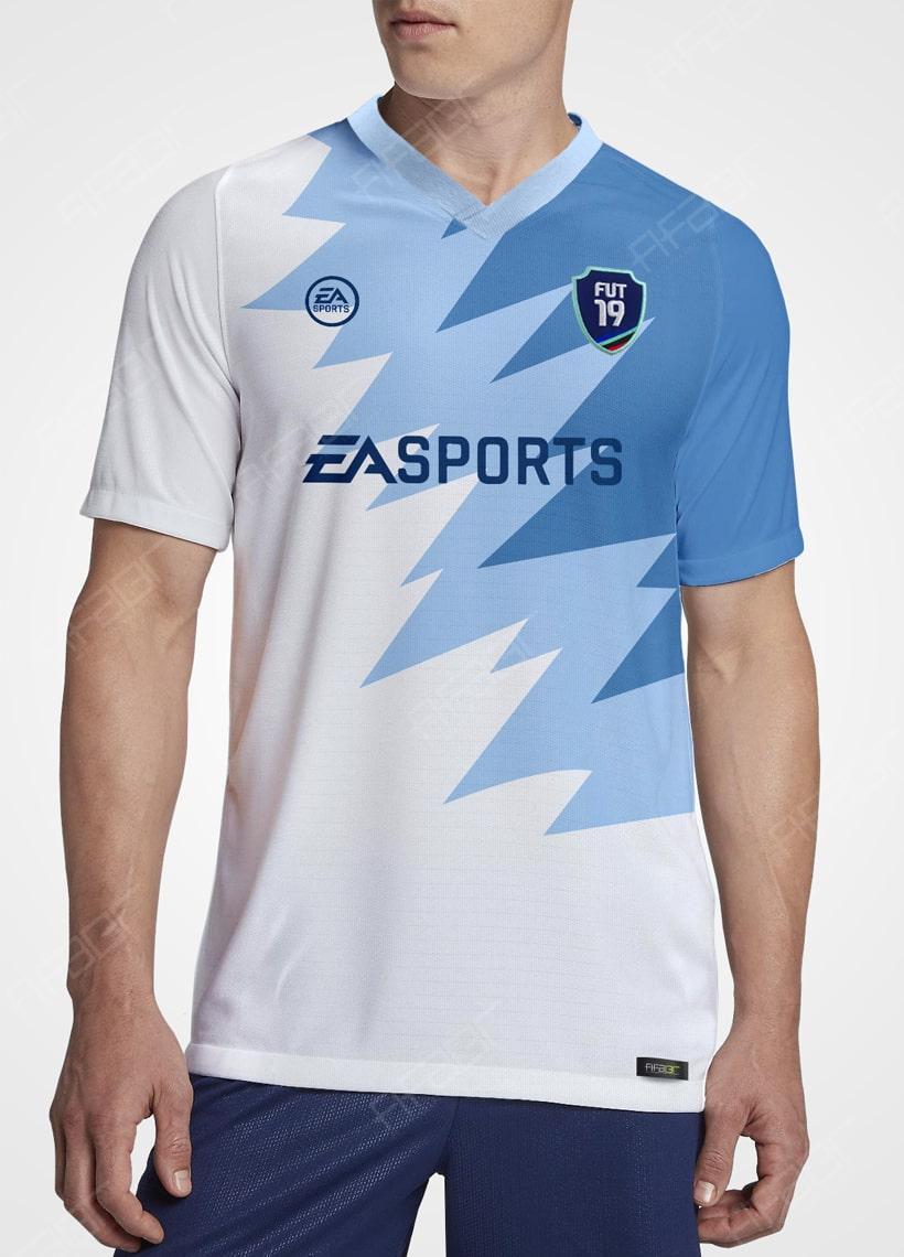Camisa Ultimate Team Futties Edition Azul e Branco