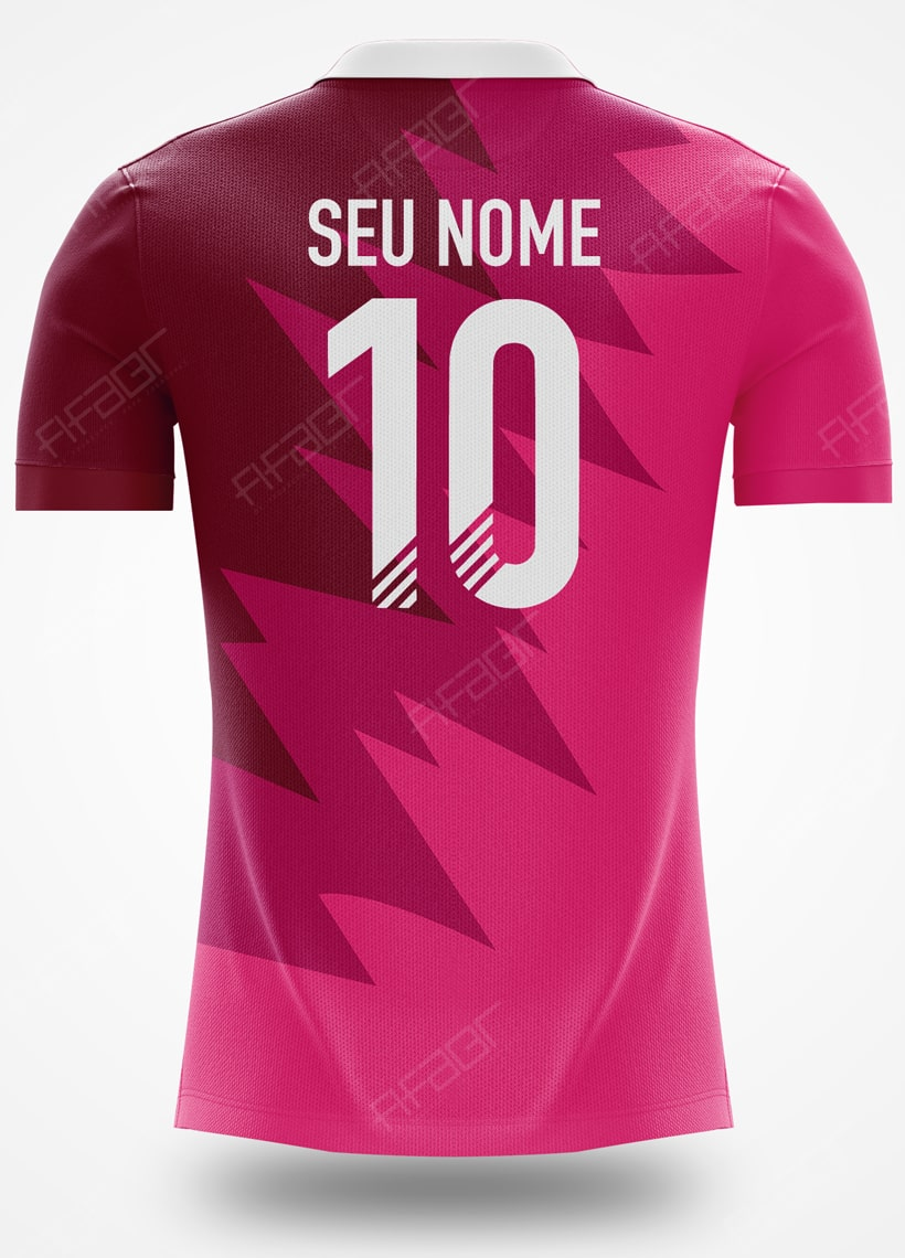Camisa Ultimate Team Futties Edition Rosa e Bordo