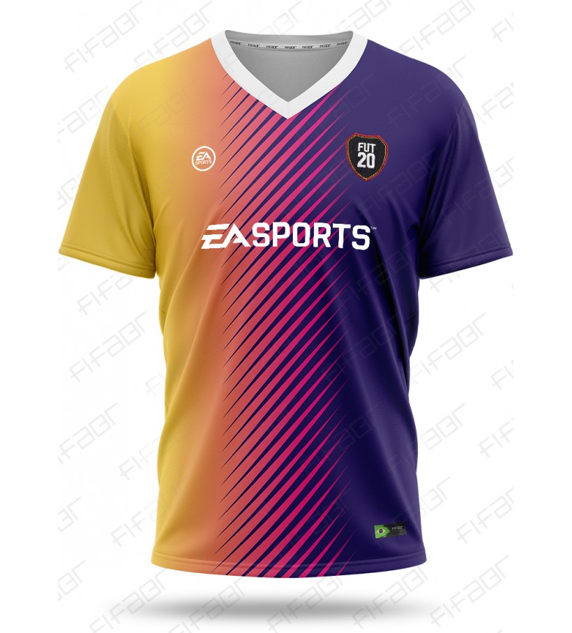 Camisa Ultimate Team TOTW Edition Amarela e Roxo Degradê