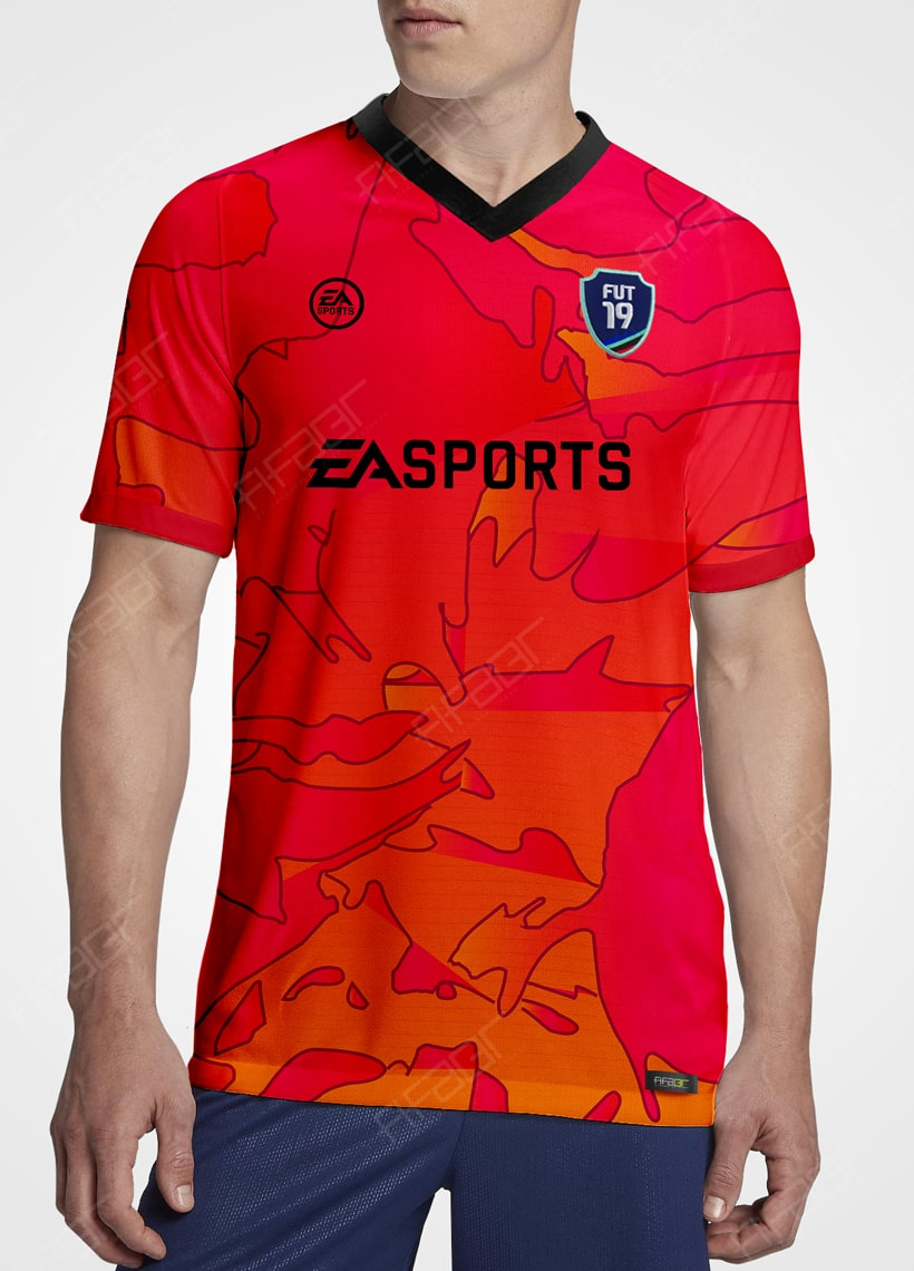 Camisa Ultimate Team Vulcano Edition Vermelha e Laranja