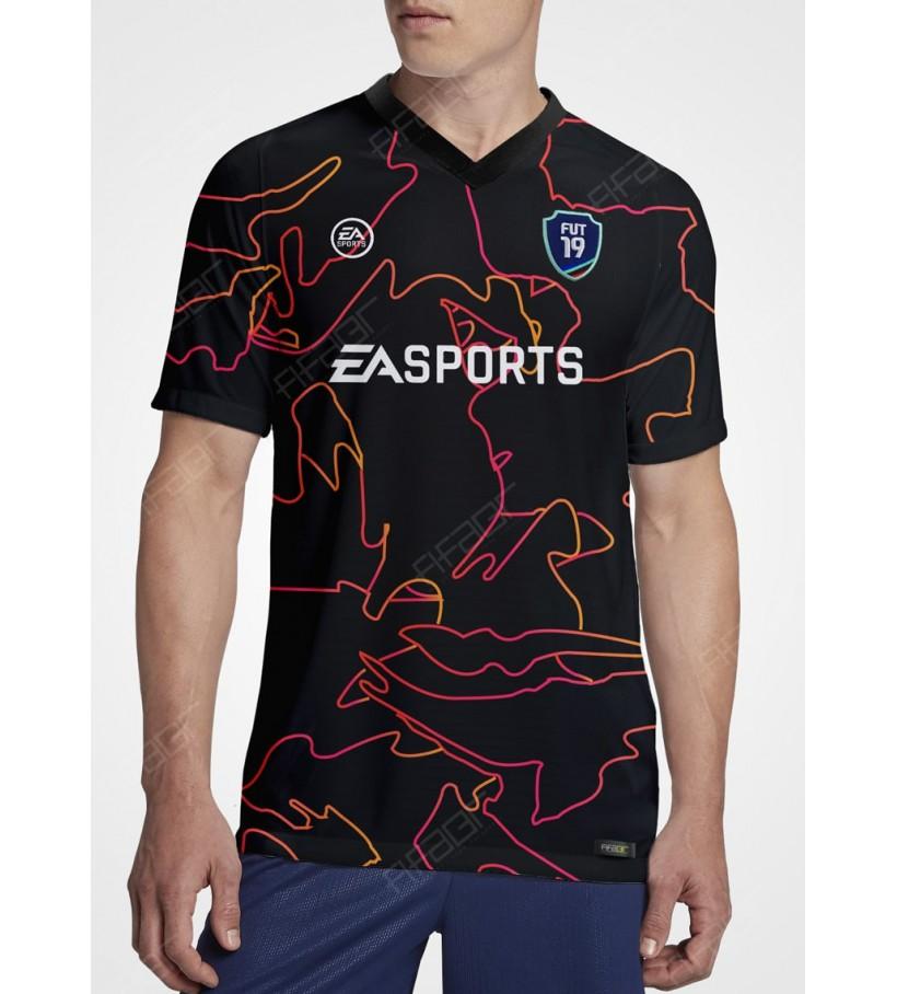 Camisa Ultimate Team Vulcano Edition Preta e Vermelha