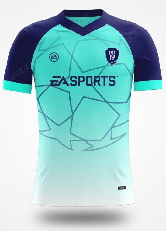 Camisa Ultimate Team Champions League Verde Claro e Azul Marinho