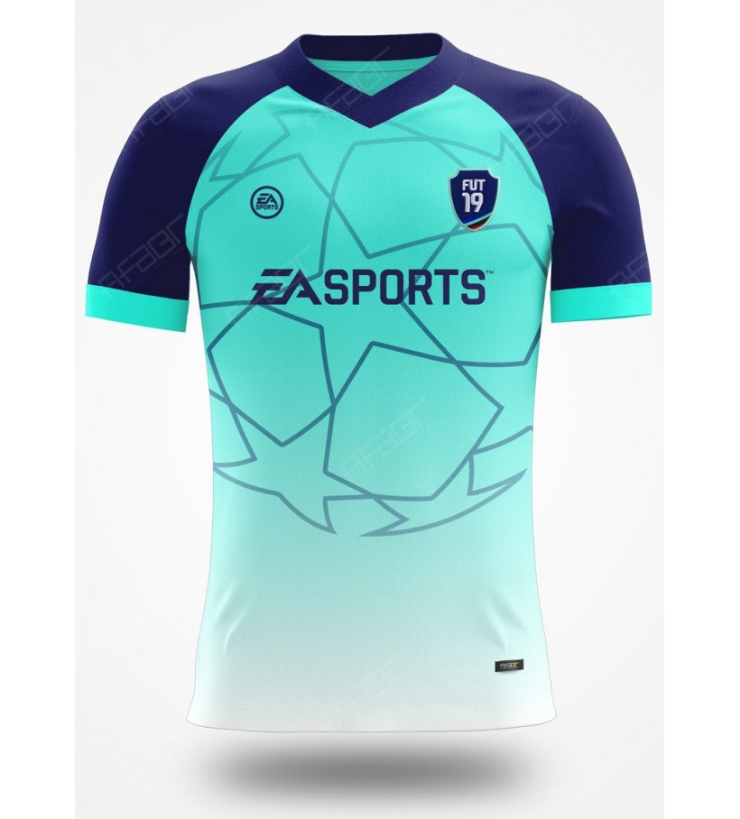 Camisa Ultimate Team Champions League Verde Claro e Azul Marinho