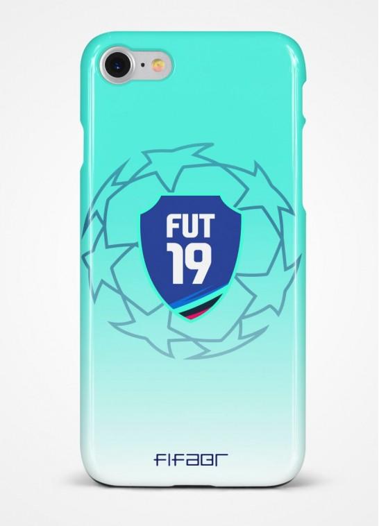 Capinha Fut 19 Champions League Azul Água e Branco Degradê - Clique e Selecione seu Modelo