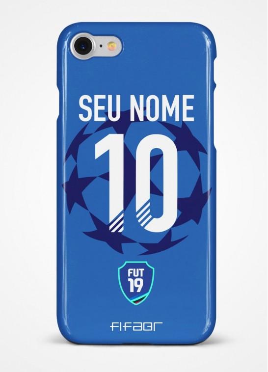Capinha Fut 19 Champions League Azul - Com Personalização - Selecione o Modelo