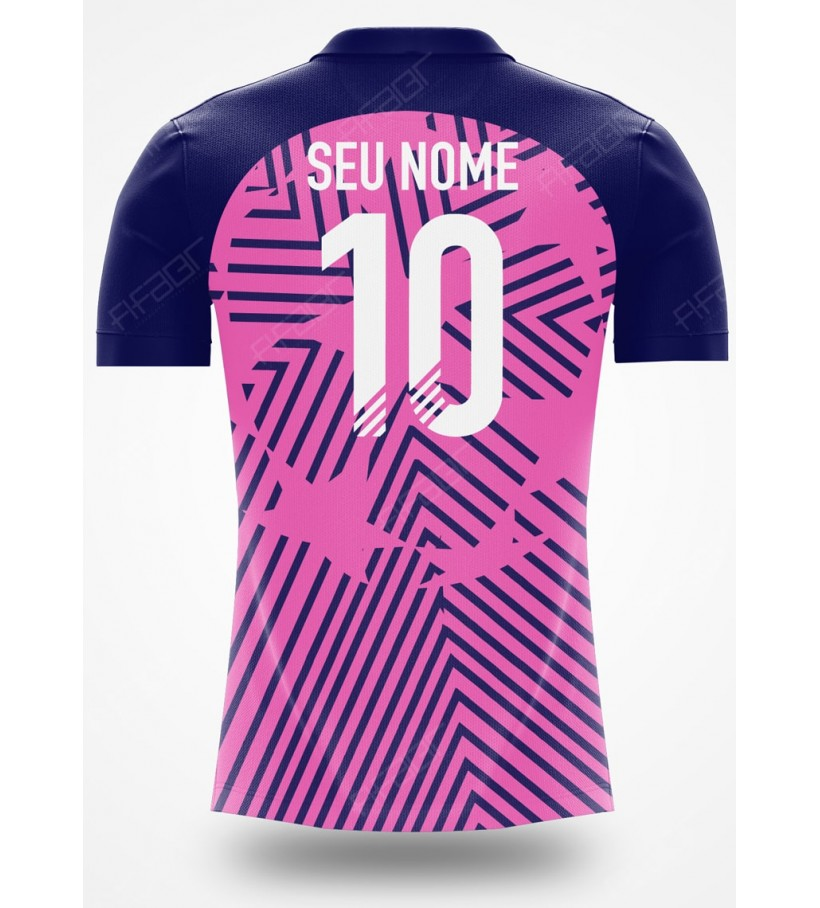 Camisa Ultimate Team Champions League Rosa e Azul Marinho