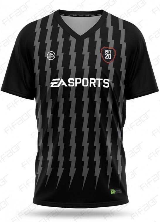 Camisa Fut Champions Elite Editon Preta e Cinza