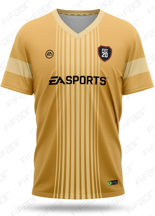 Camisa Fut Champions Gold Edition Bege