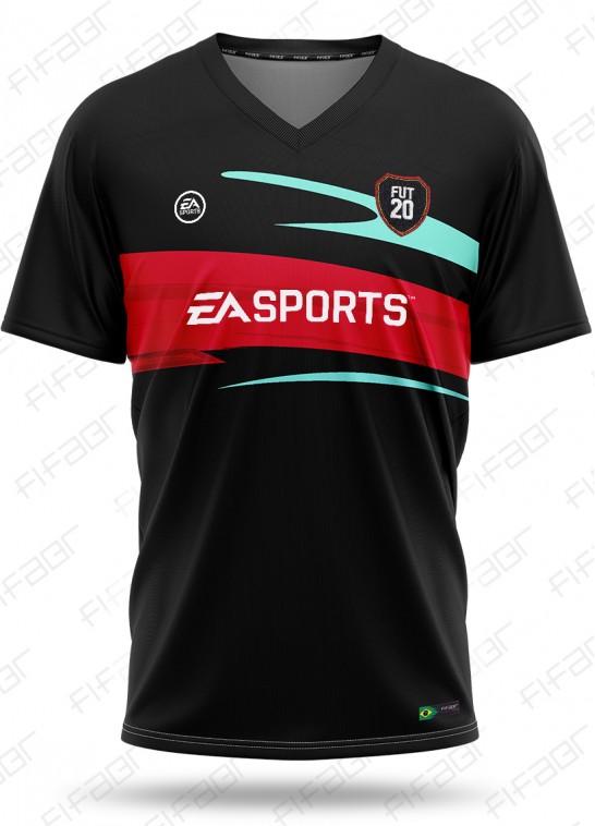 Camisa Ultimate Team TOTW Edition Preta e Vermelha