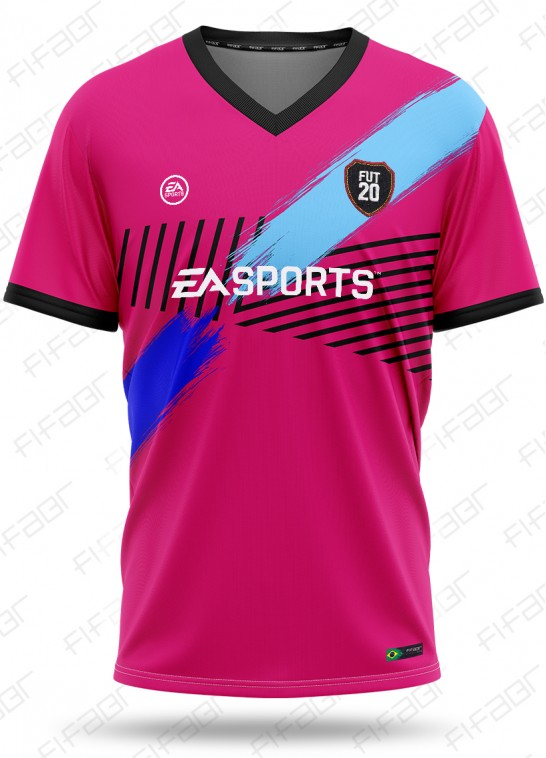 Camisa Ultimate Team TOTW Edition Rosa e Azul