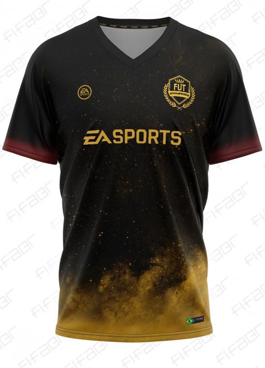 Camisa Fut Champions Cup Preta e Amarela Universe Star