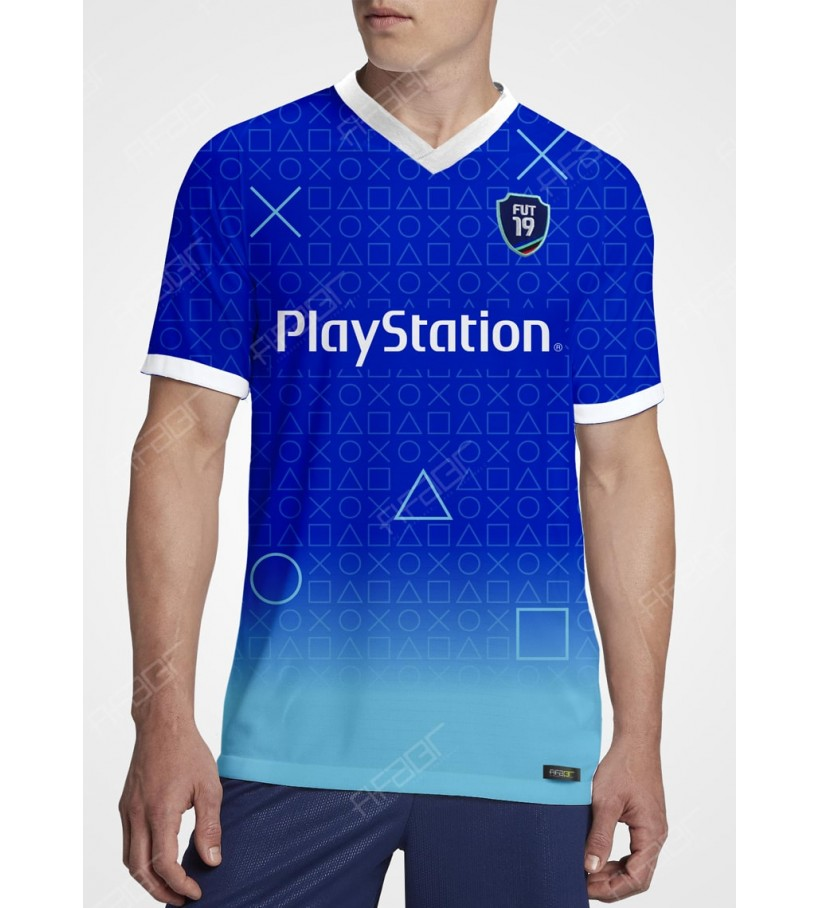 Camisa Fifa Ultimate Team PlayStation Plataform Edition Azul