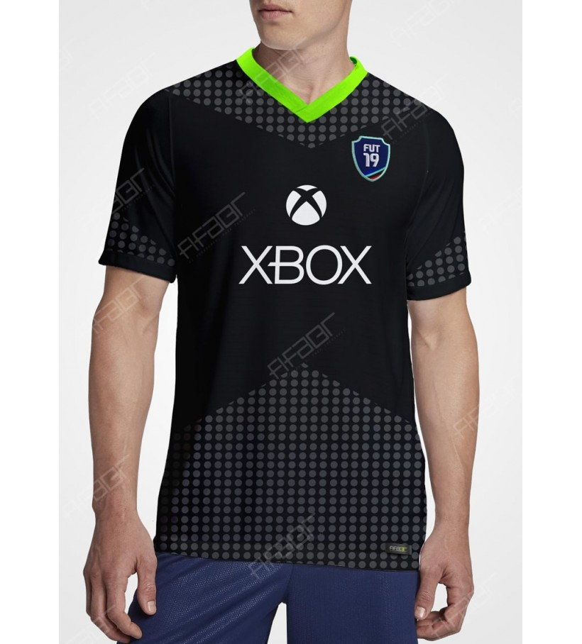 Camisa Fifa Ultimate Team XBOX Plataform Edition Preta e Cinza
