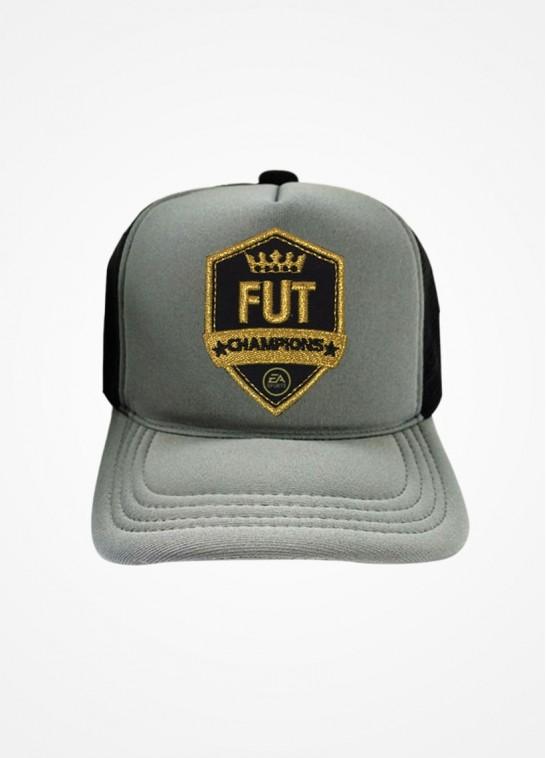 Boné Trucker Cinza e Preto Fifa Ultimate Team Fut Champions