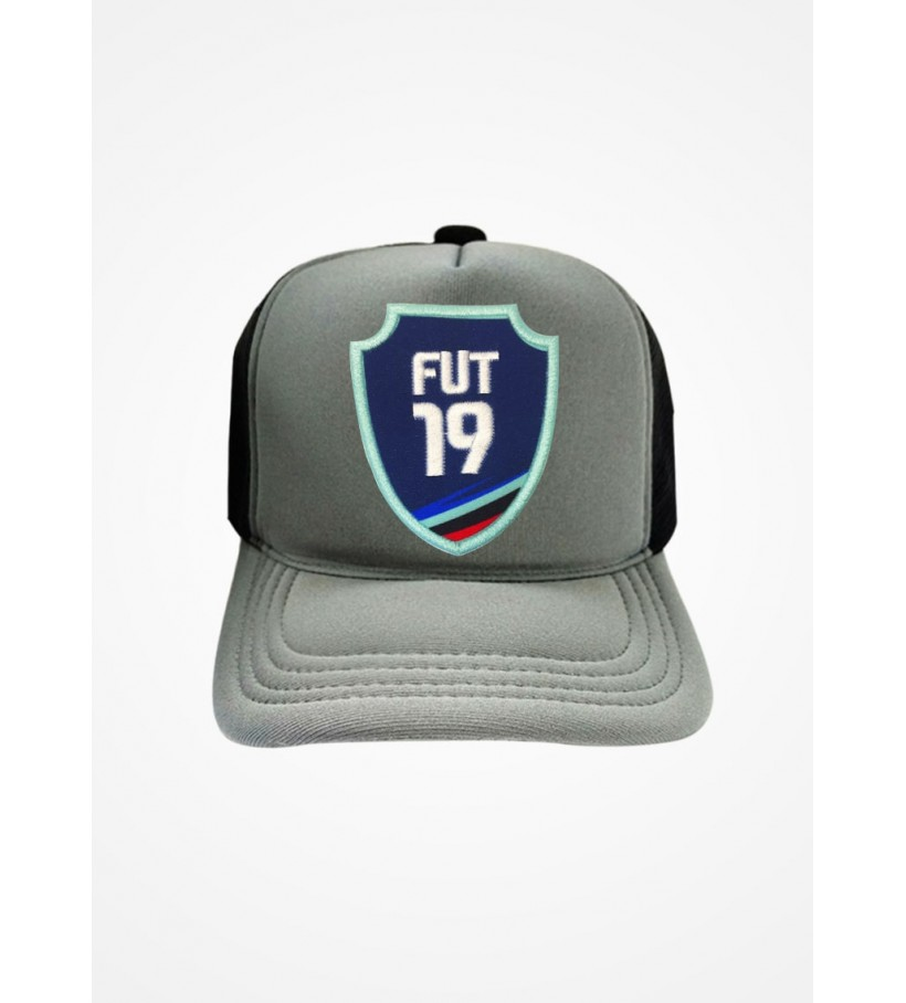 Boné Trucker Cinza e Preto Fifa Ultimate Team Fut 19