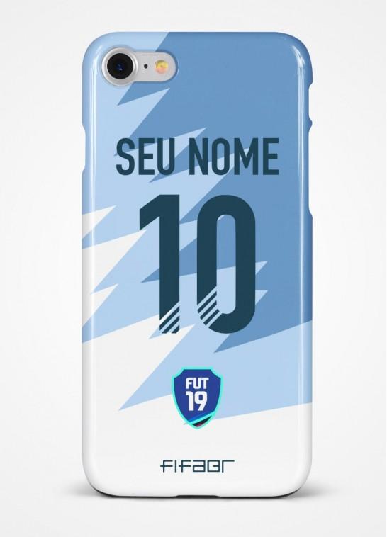 Capinha Ultimate Team Futties Edition Azul e Branco - Com Personalização - Selecione o Modelo