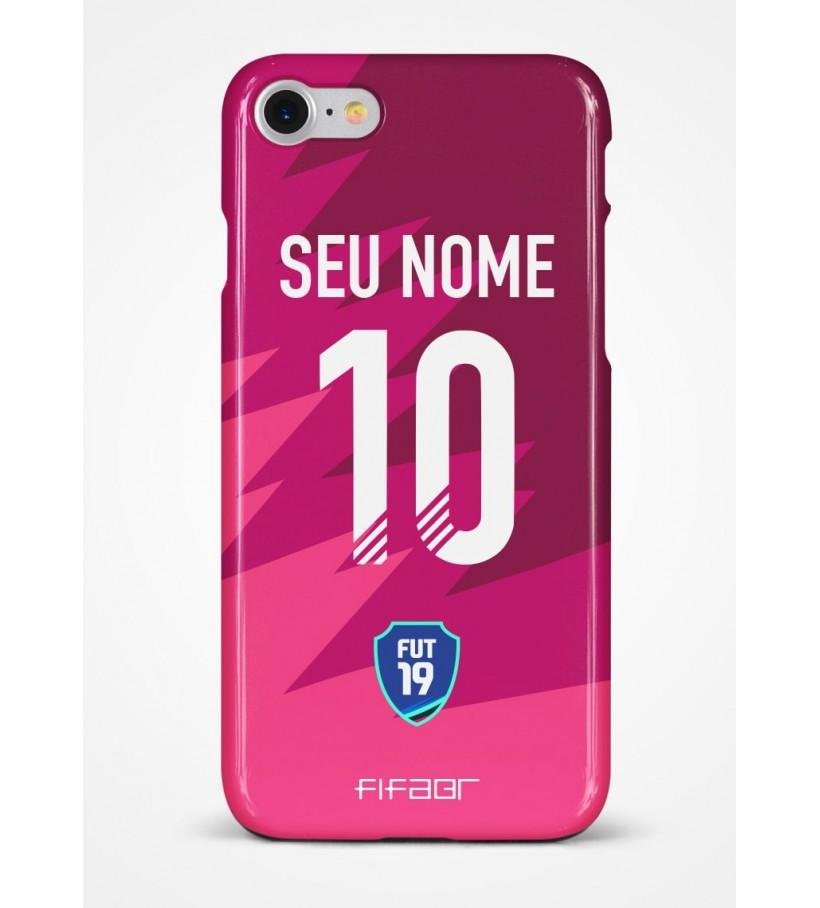 Capinha Ultimate Team Futties Edition Rosa e Bordo - Com Personalização - Selecione o Modelo