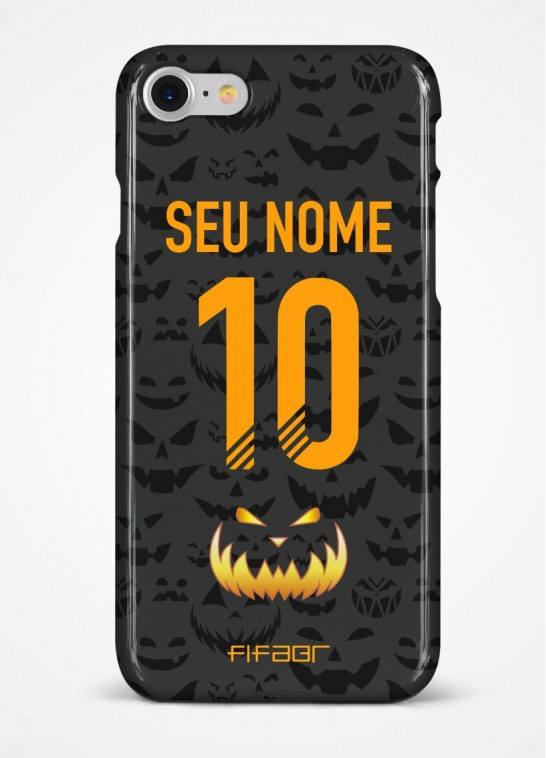 Capinha Ultimate Team Halloween Preta e Laranja - Com Personalização - Selecione o Modelo