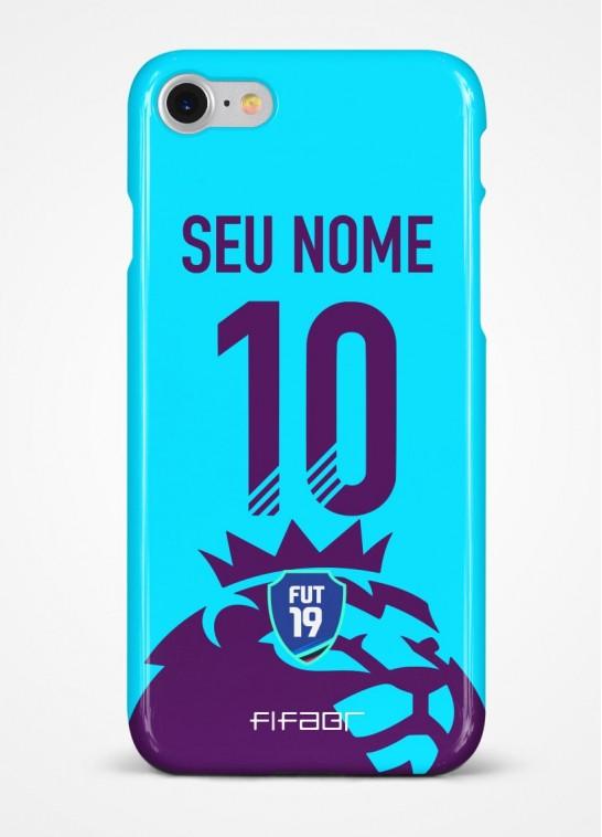 Capinha Ultimate Team Premier League Azul Claro - Com Personalização - Selecione o Modelo