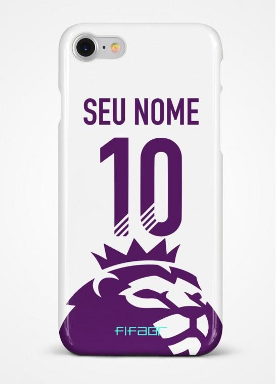 Capinha Ultimate Team Premier League Branca - Com Personalização - Selecione o Modelo