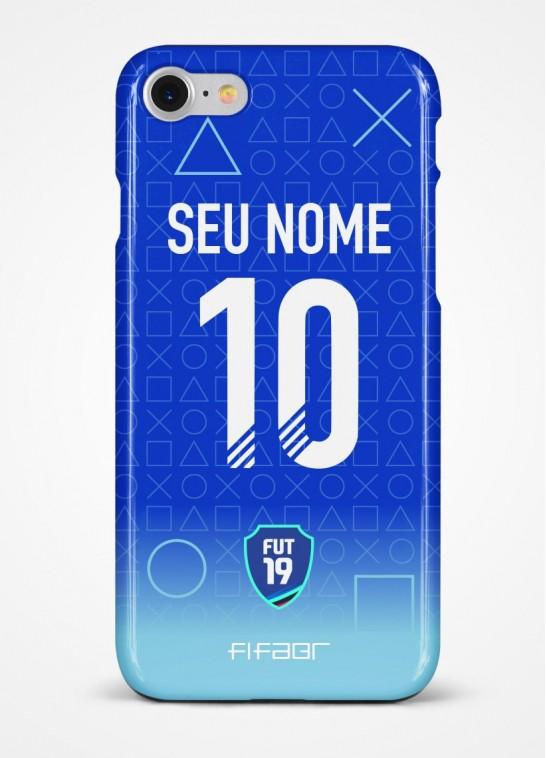 Capinha Ultimate Team PlayStation Azul - Com Personalização - Selecione o Modelo