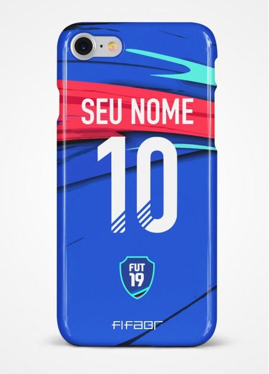 Capinha Ultimate Team TOTW Azul e Vermelha - Com Personalização - Selecione o Modelo