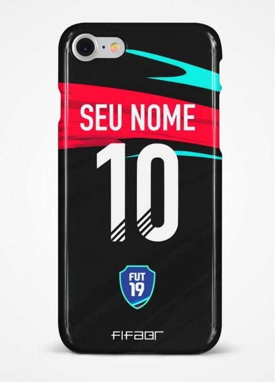 Capinha Ultimate Team TOTW Preta e Vermelha - Com Personalização - Selecione o Modelo