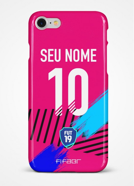 Capinha Ultimate Team TOTW Rosa e Azul - Com Personalização - Selecione o Modelo